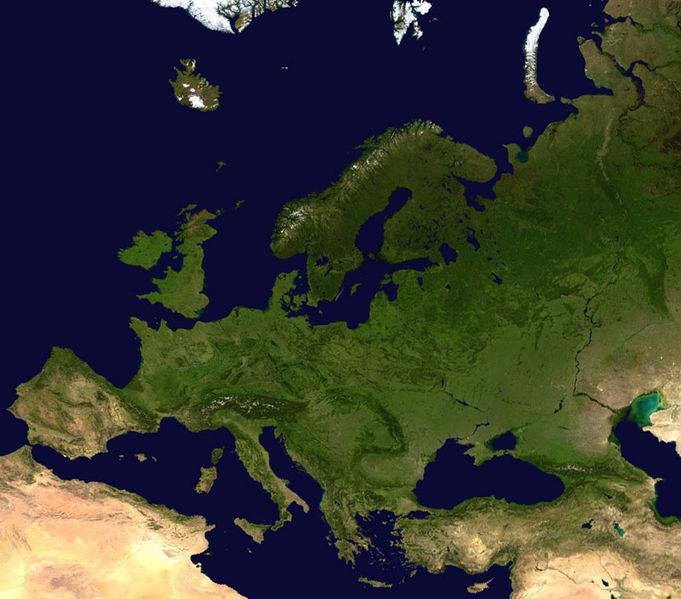 Europa vista desde un satélite. Foto: NASA