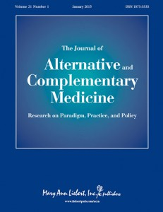 Portada del Journal of Alternative and Complementary Medicine