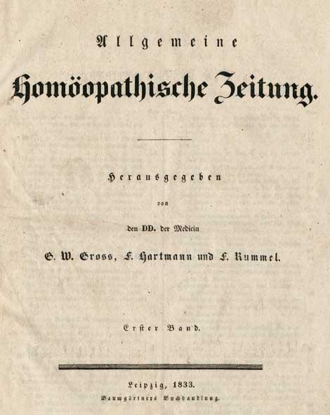 Allgemeine Homoopatische Zeitung