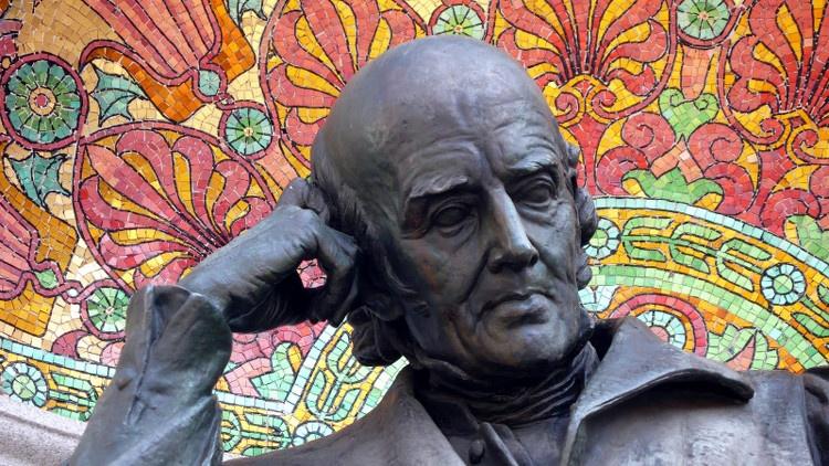 Detalle del monumento a Hahnemann en Washington DC