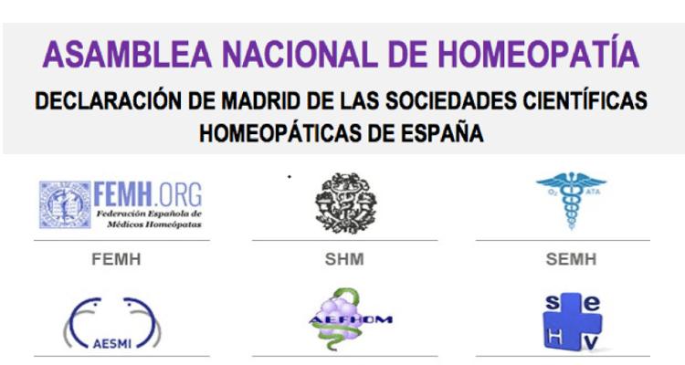 Asamblea Nacional de Homeopatía: Declaración de Madrid